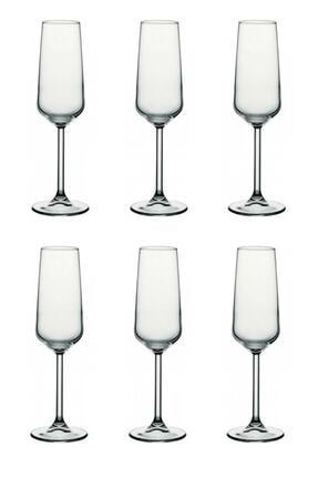 Paşabahçe Allegra 6 Parça Ayaklı Kadeh Flüt Şampanya Kadehi 1