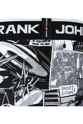 John Frank Erkek Siyah Dijital Baskılı Boxer Jfb109 3
