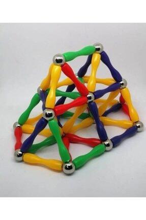 Modauyum Manyetik Lego Mıknatıslı Denge Oyun Çubukları (148 Parça) 2