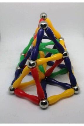 Modauyum Manyetik Lego Mıknatıslı Denge Oyun Çubukları (148 Parça) 4