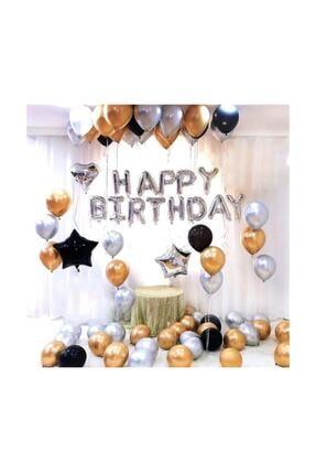 BalonEvi Plus Doğum Günü Balonu Kombini Gümüş Kb1252 0