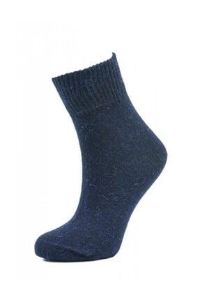 BORN Kadın Lacivert Yünlü Kısa Soket Çorabı 0