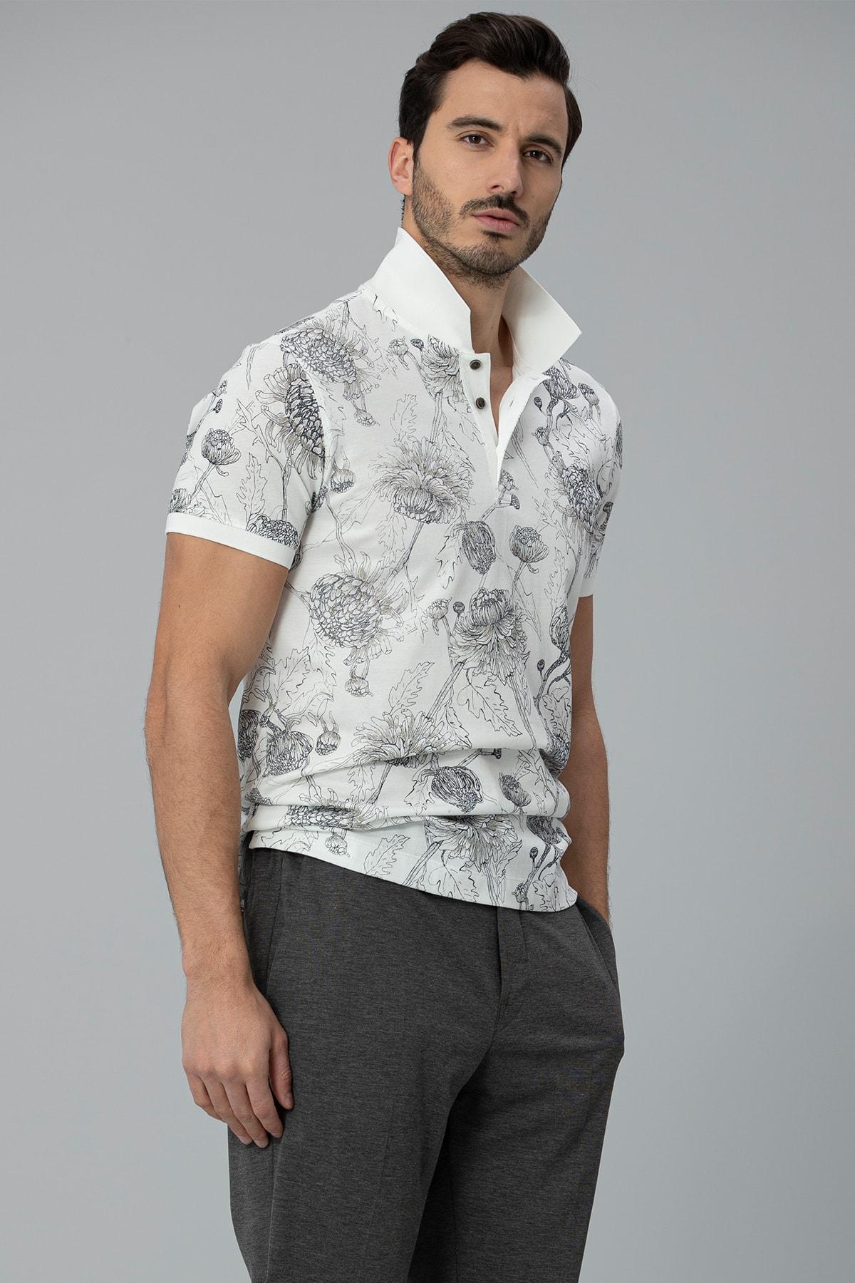 Lufian Capri Spor Polo T- Shirt Kırık Beyaz 2