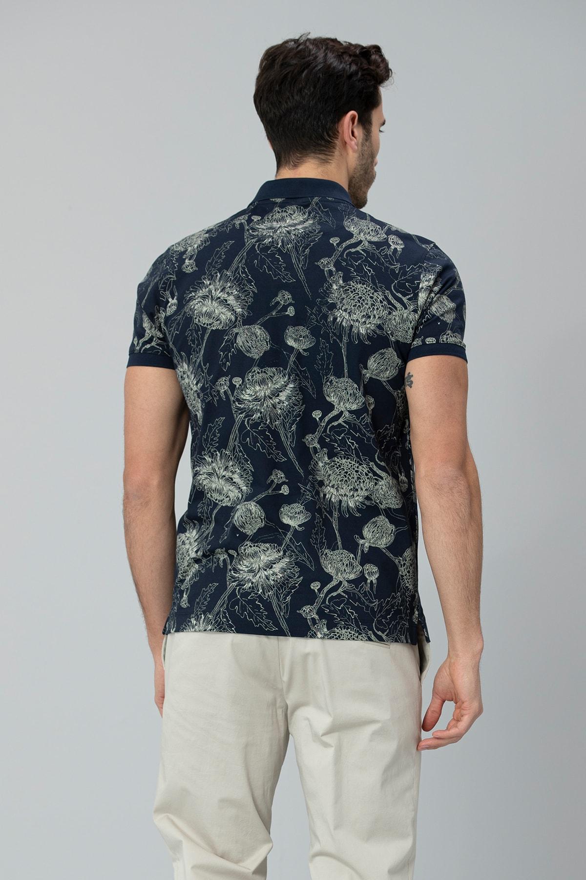 Lufian Capri Spor Polo T- Shirt Lacivert 2