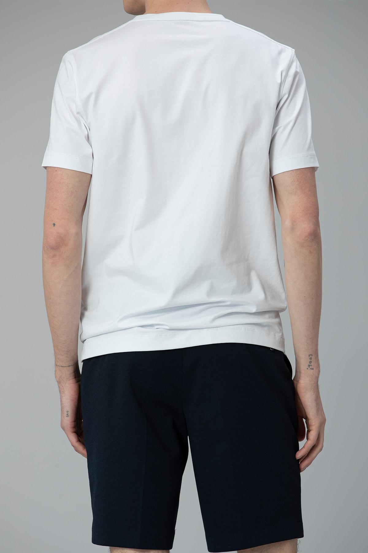 Lufian Etax Modern Grafik T- Shirt Beyaz 4