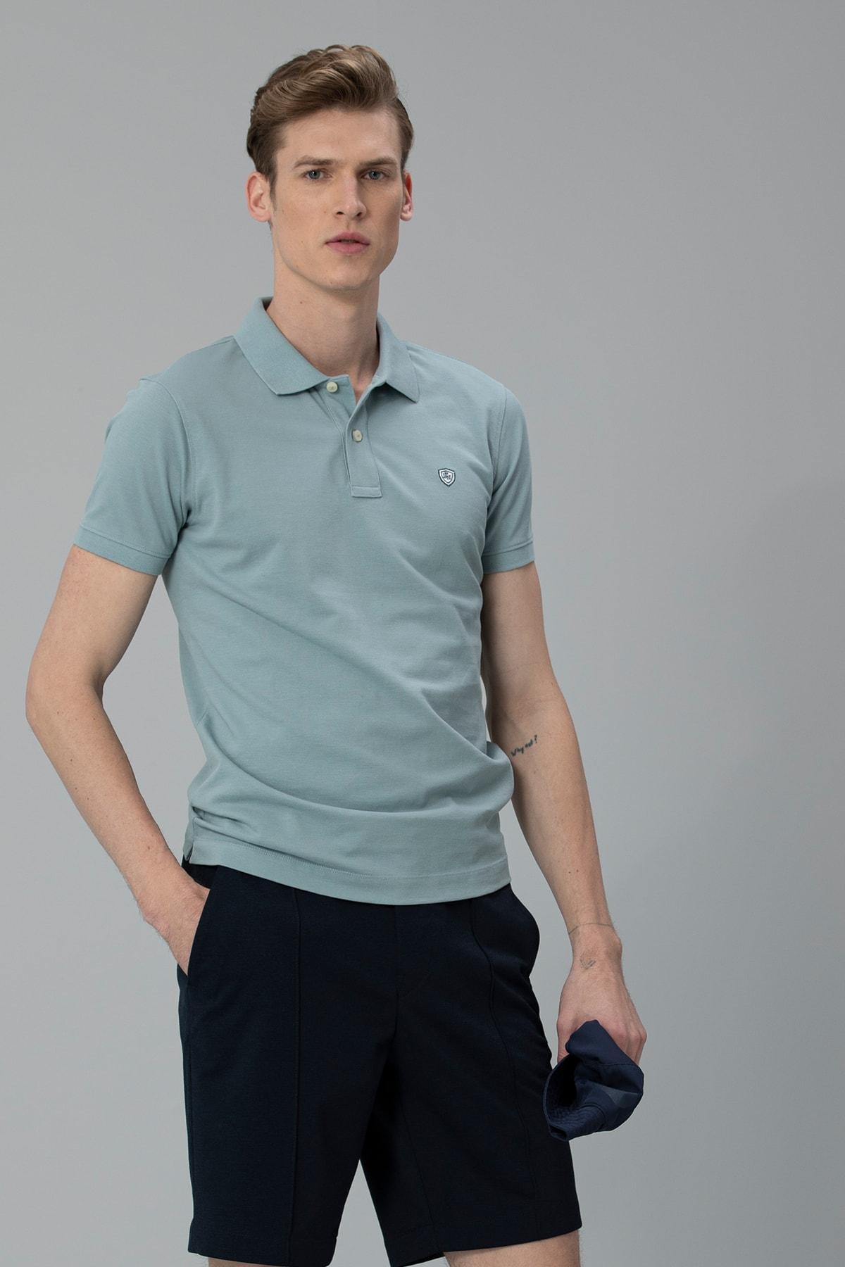 Lufian Laon Spor Polo T- Shirt Nane Yeşili 2