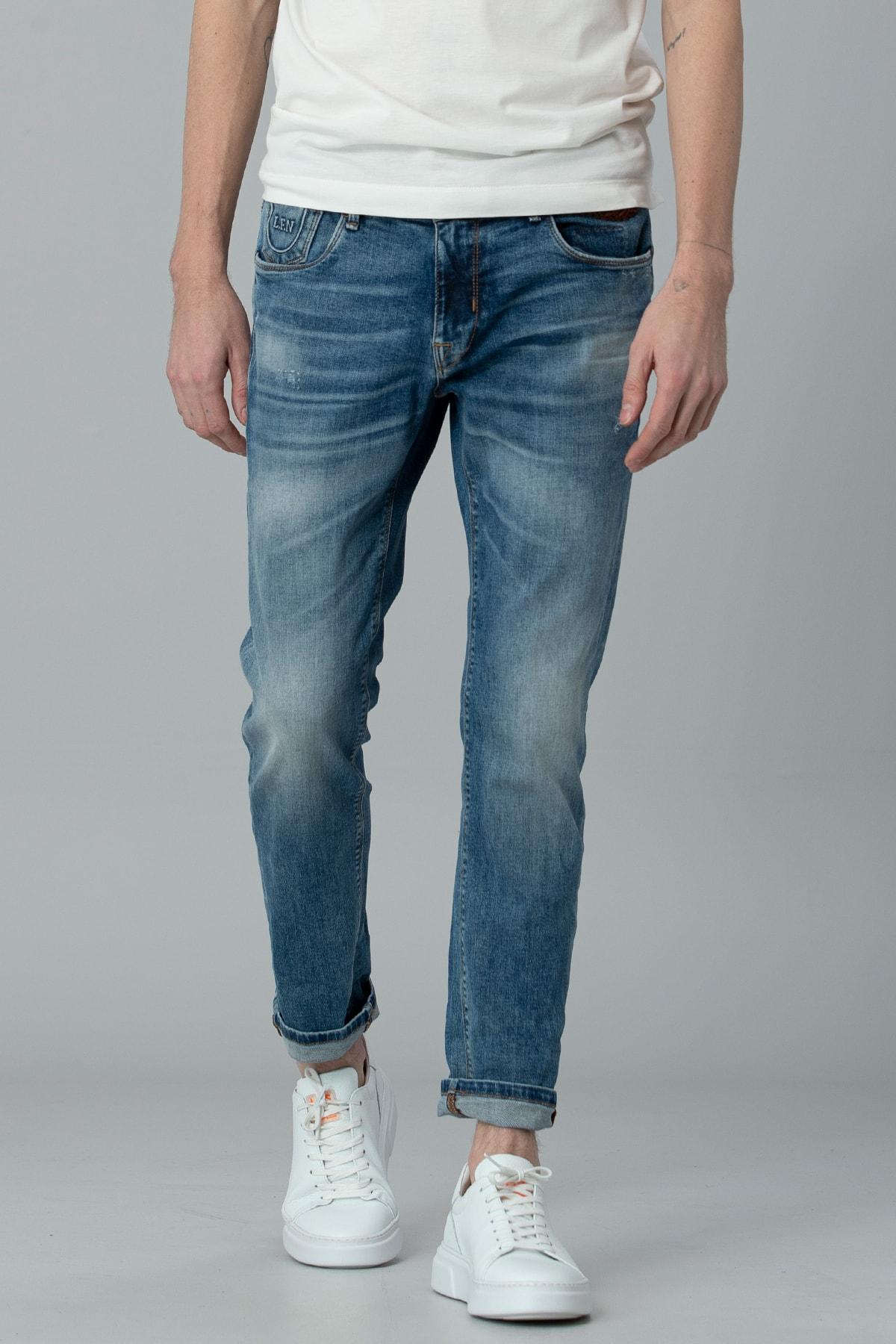Lufian Bertus Smart Jean Pantolon Slim Fit Mavi 1