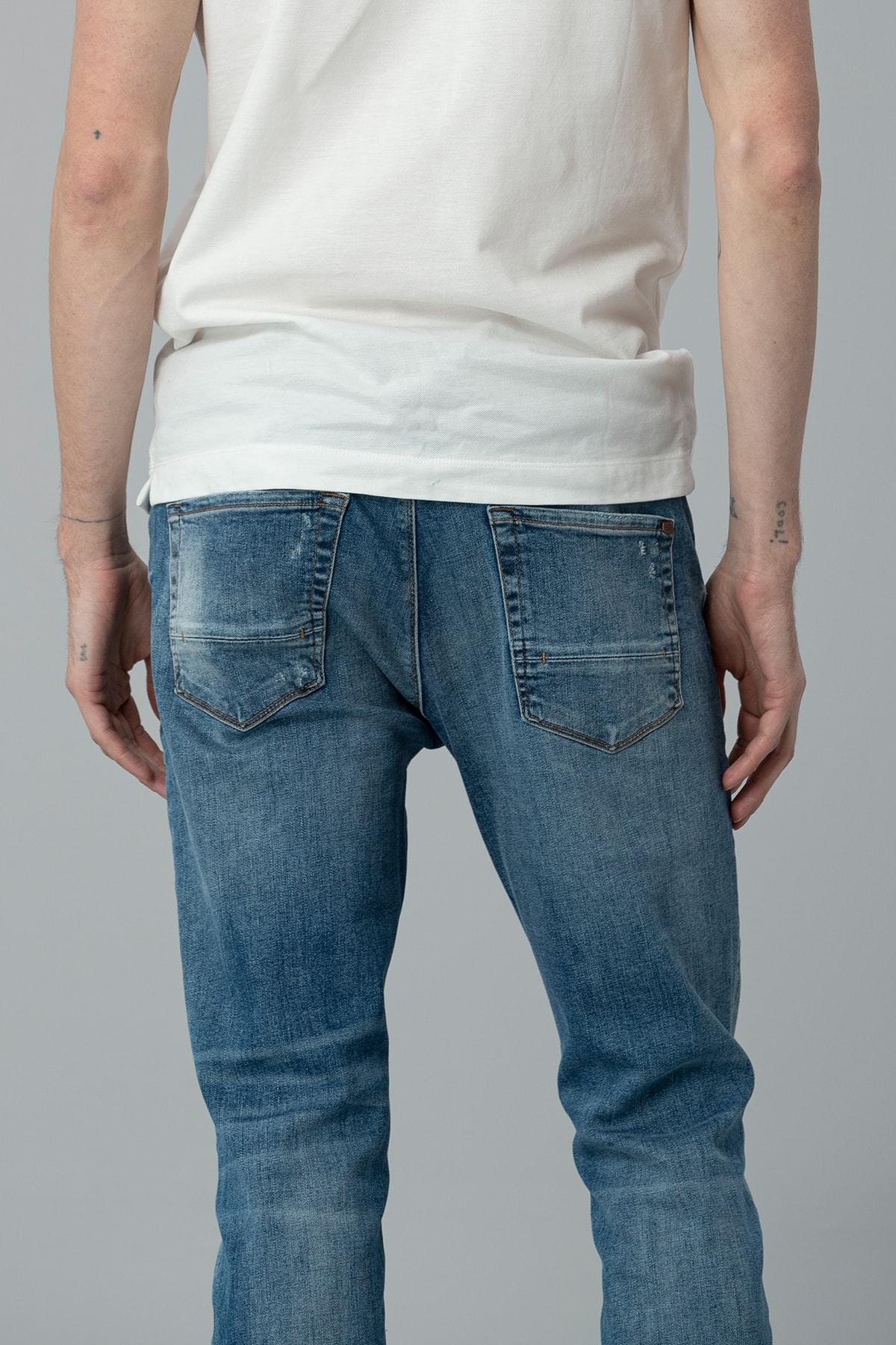 Lufian Bertus Smart Jean Pantolon Slim Fit Mavi 2