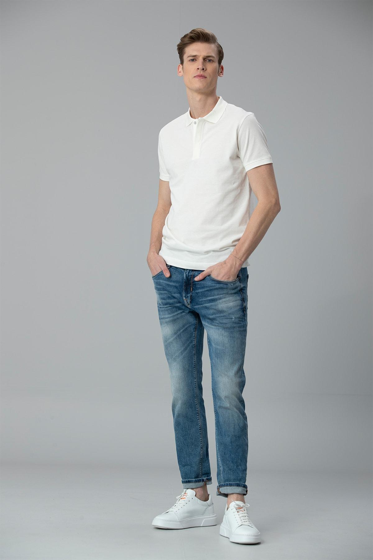 Lufian Bertus Smart Jean Pantolon Slim Fit Mavi 3