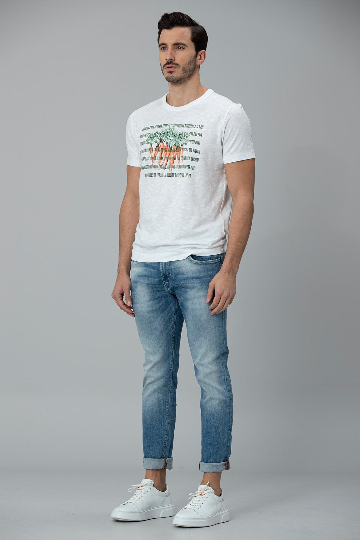 Lufian Gigest Modern Grafik T- Shirt Beyaz 3