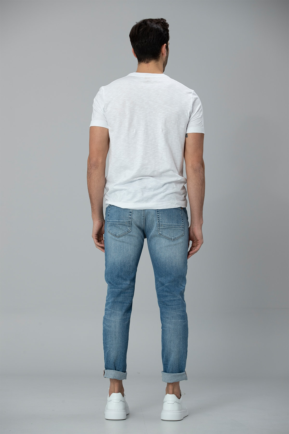 Lufian Gigest Modern Grafik T- Shirt Beyaz 4