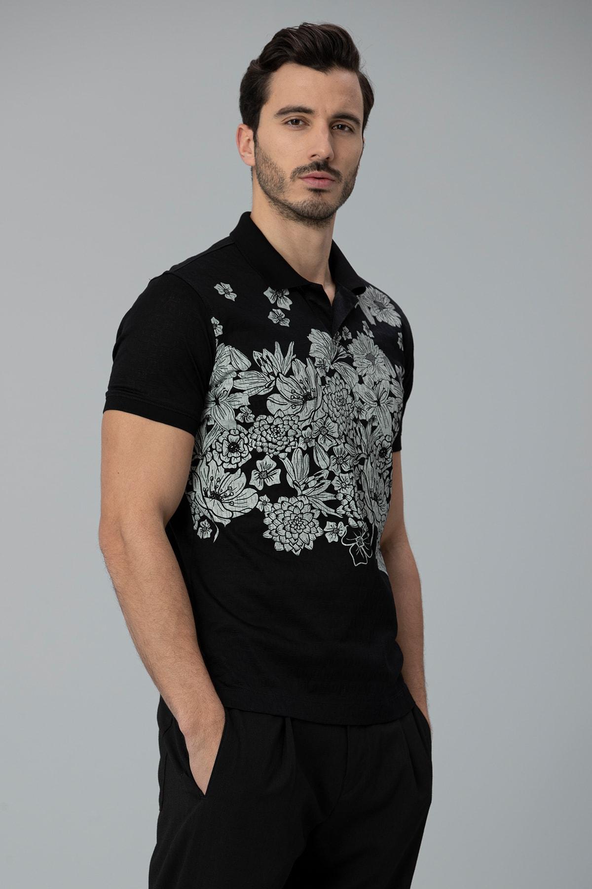 Lufian Matera Spor Polo T- Shirt Siyah 1