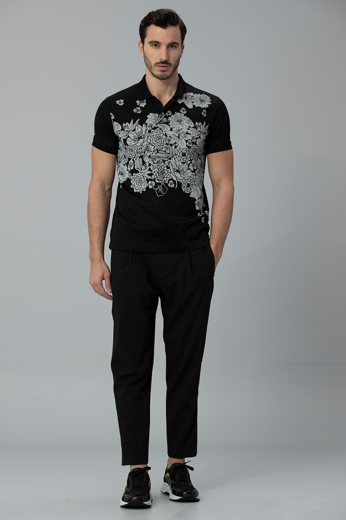 Lufian Matera Spor Polo T- Shirt Siyah 2