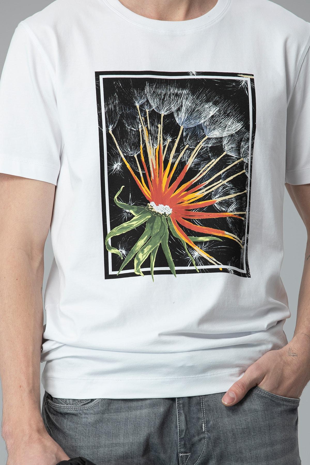 Lufian Felıta Modern Grafik T- Shirt Beyaz 1