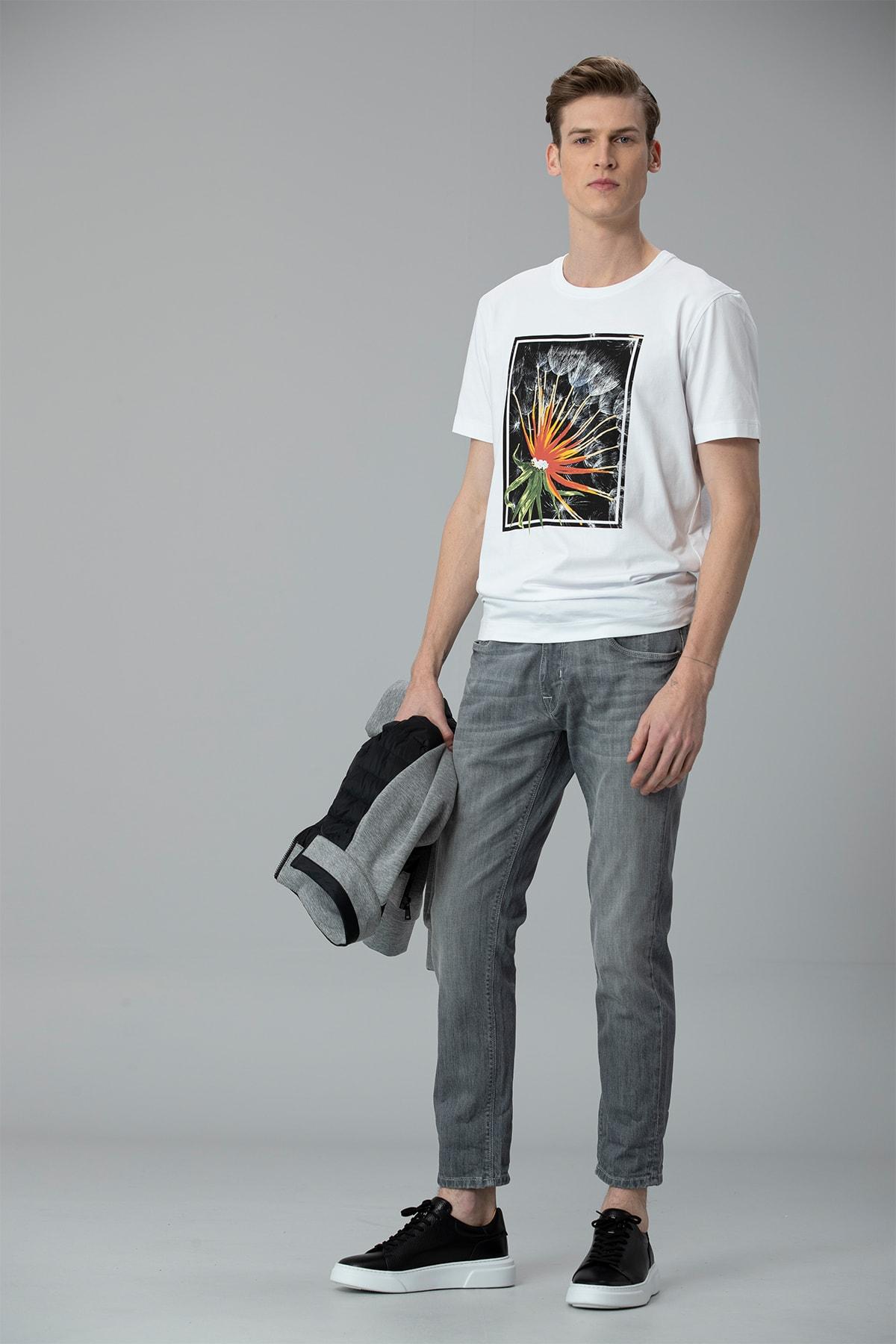 Lufian Felıta Modern Grafik T- Shirt Beyaz 2
