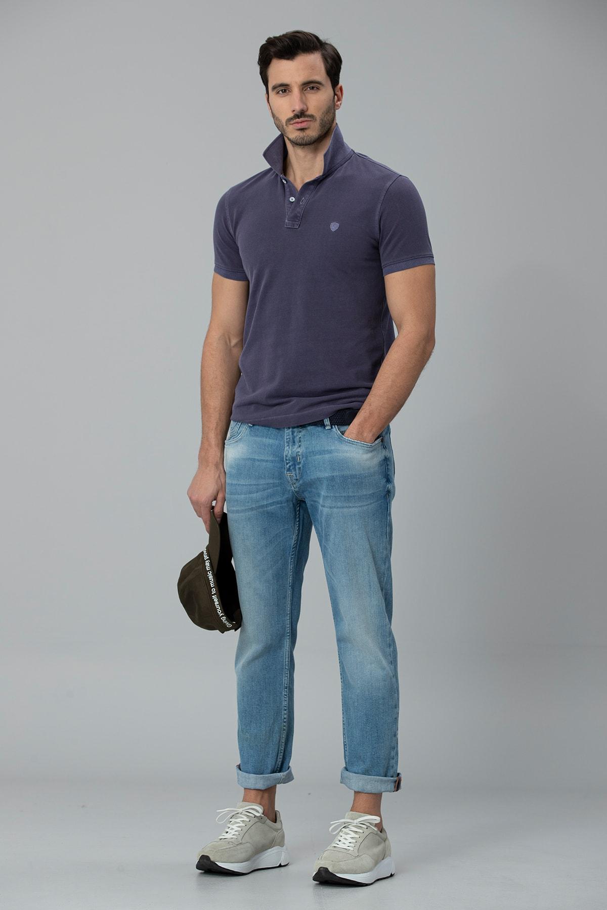 Lufian Ege Smart Jean Pantolon Regular Fit Gök Mavi 2