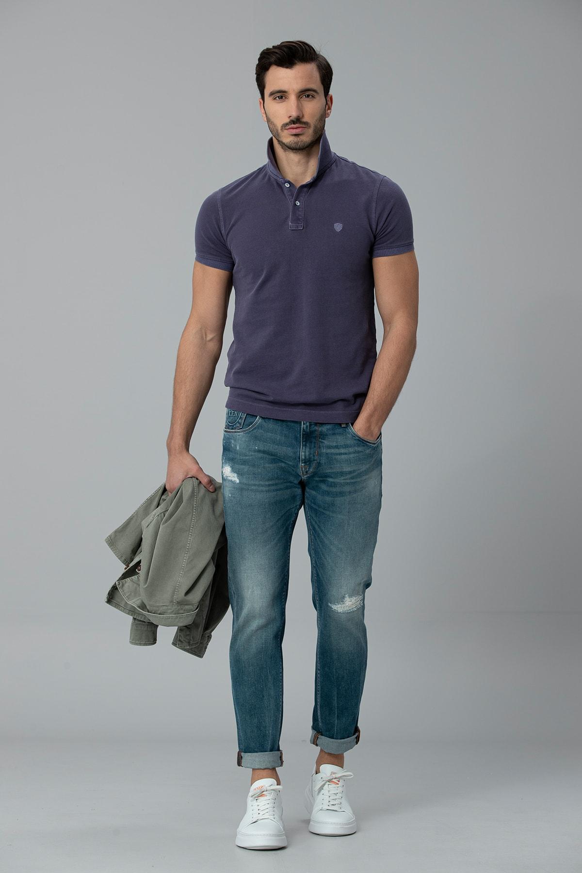 Lufian Geny Smart Jean Pantolon Slim Fit Açık Mavi 1