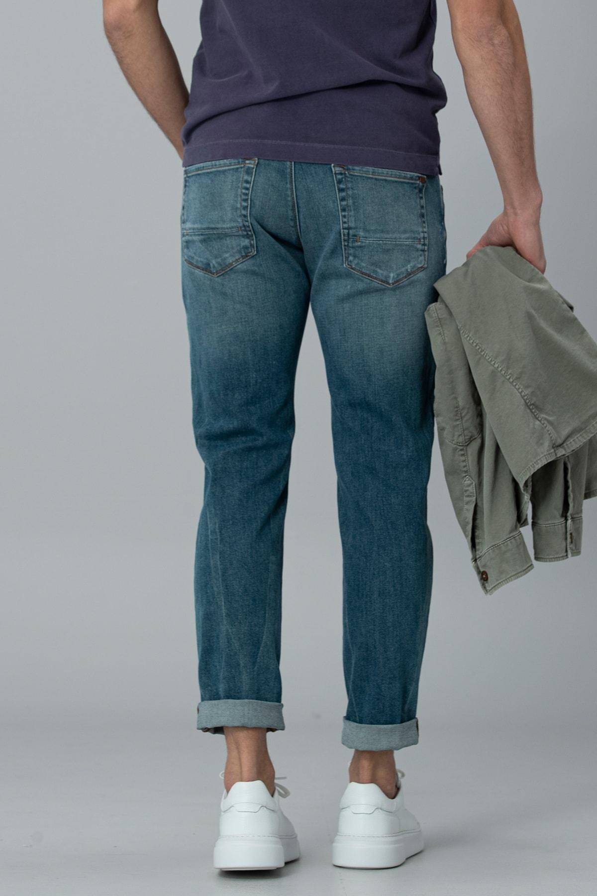 Lufian Geny Smart Jean Pantolon Slim Fit Açık Mavi 4