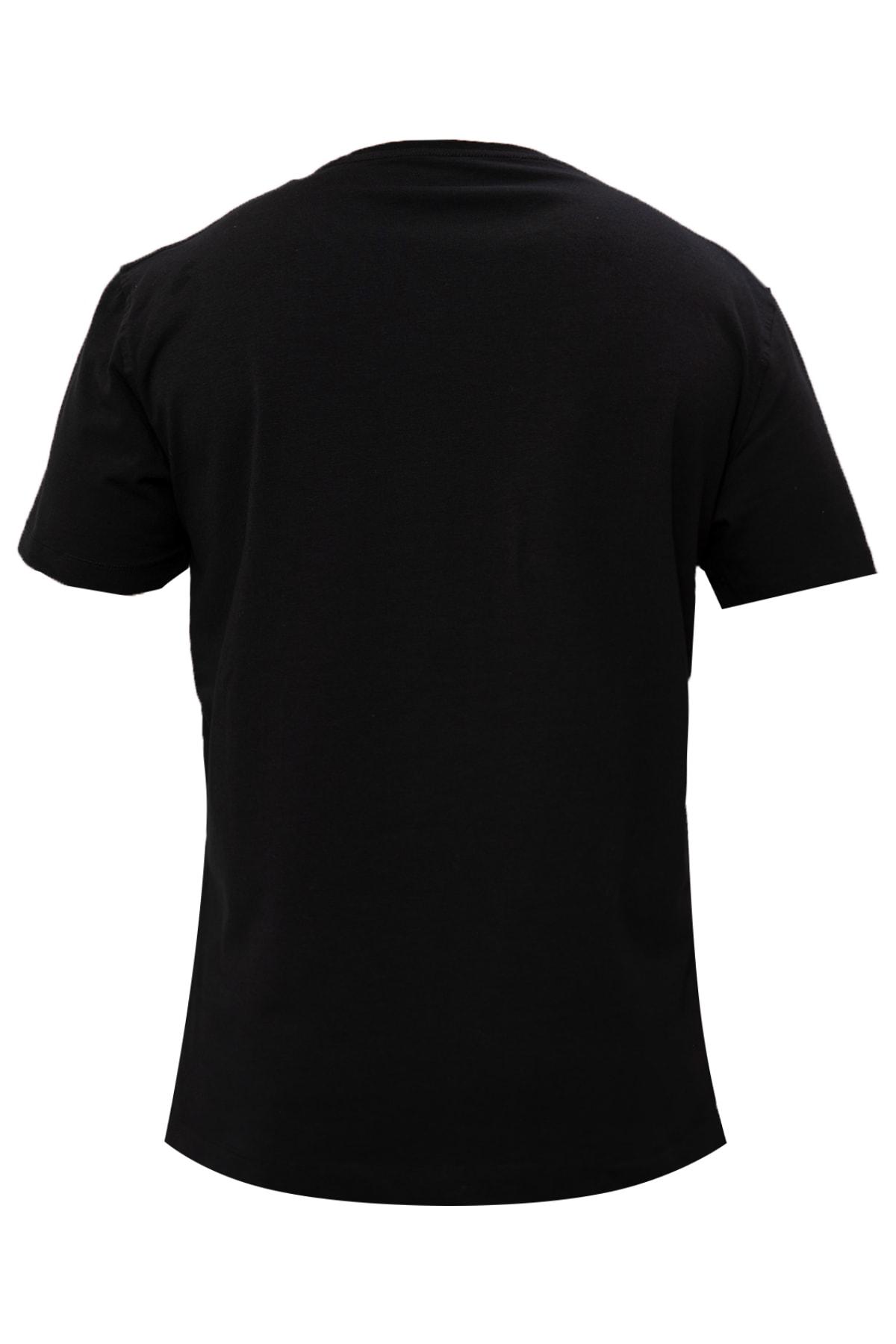 Lufian Nefer Modern Grafik T- Shirt Siyah 1