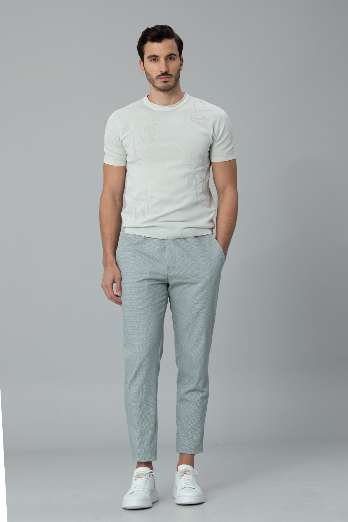 Lufian Klosi Spor Chino Pantolon Tailored Fit Yeşil 0