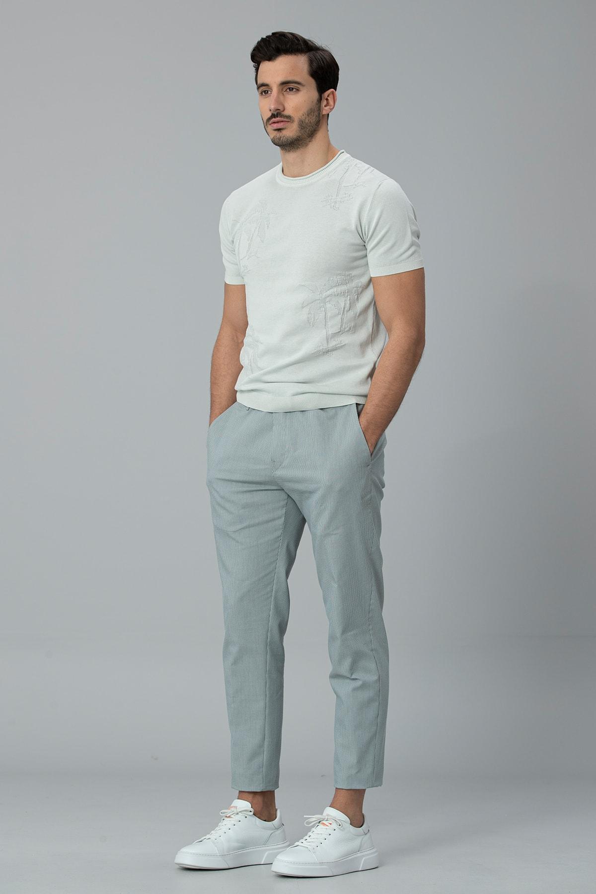 Lufian Klosi Spor Chino Pantolon Tailored Fit Yeşil 3