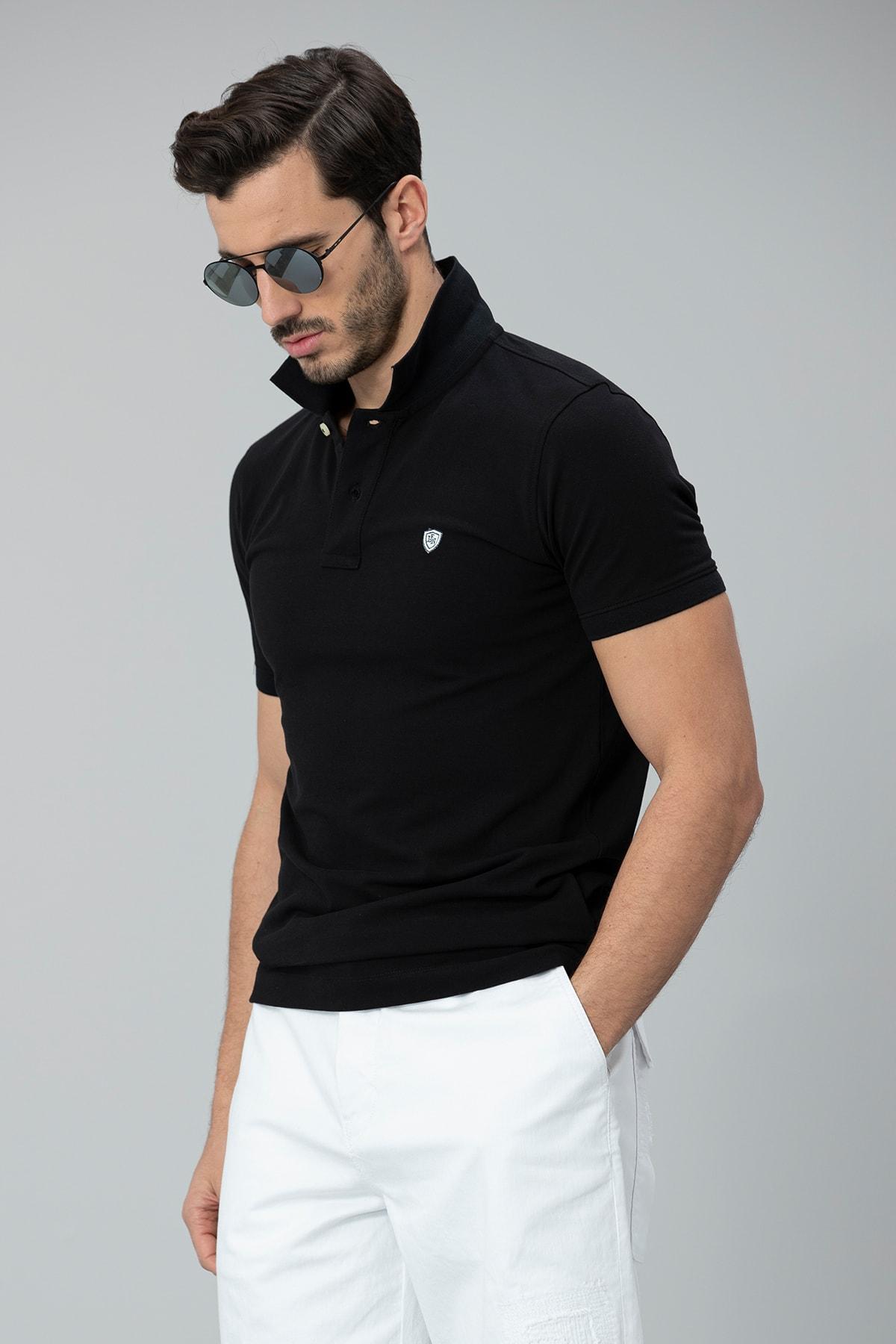 Lufian Laon Spor Polo T- Shirt Siyah 1