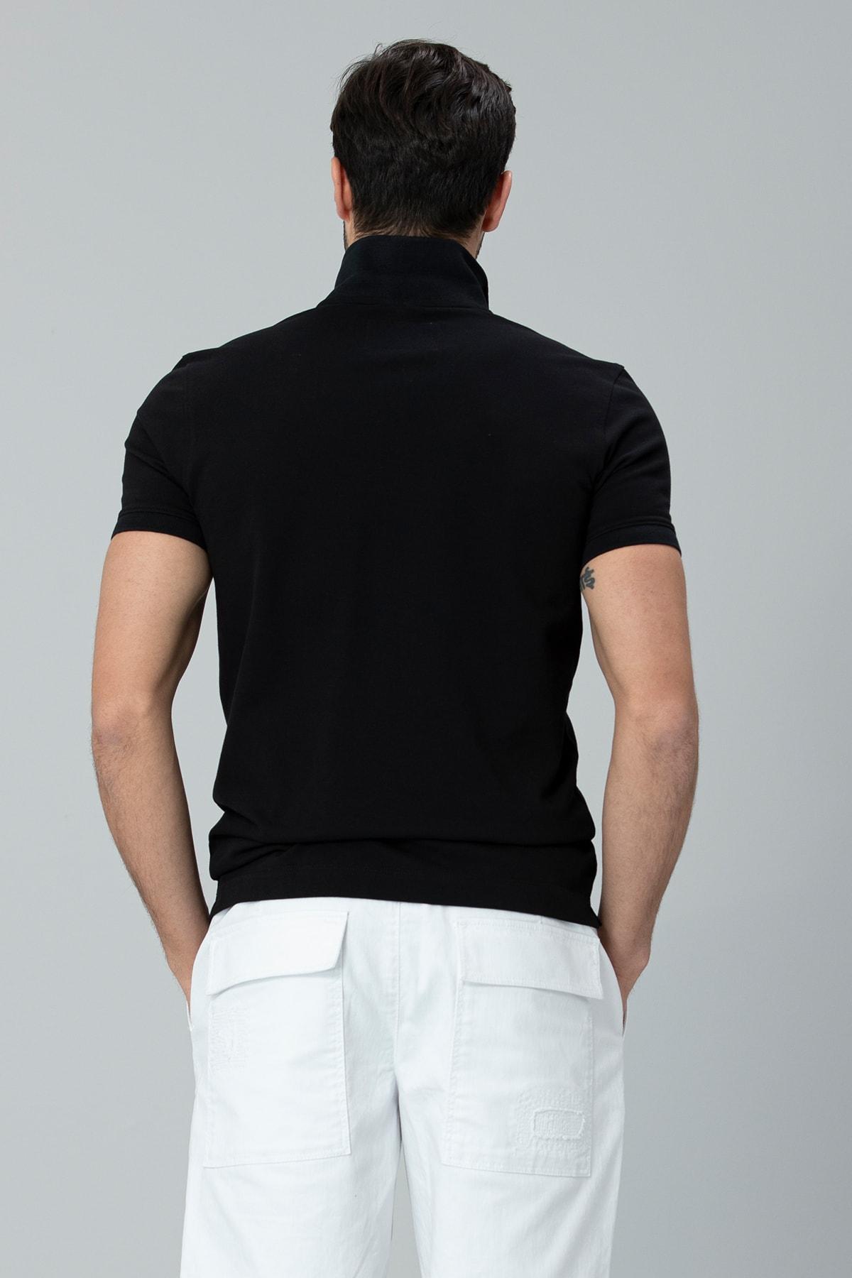 Lufian Laon Spor Polo T- Shirt Siyah 4