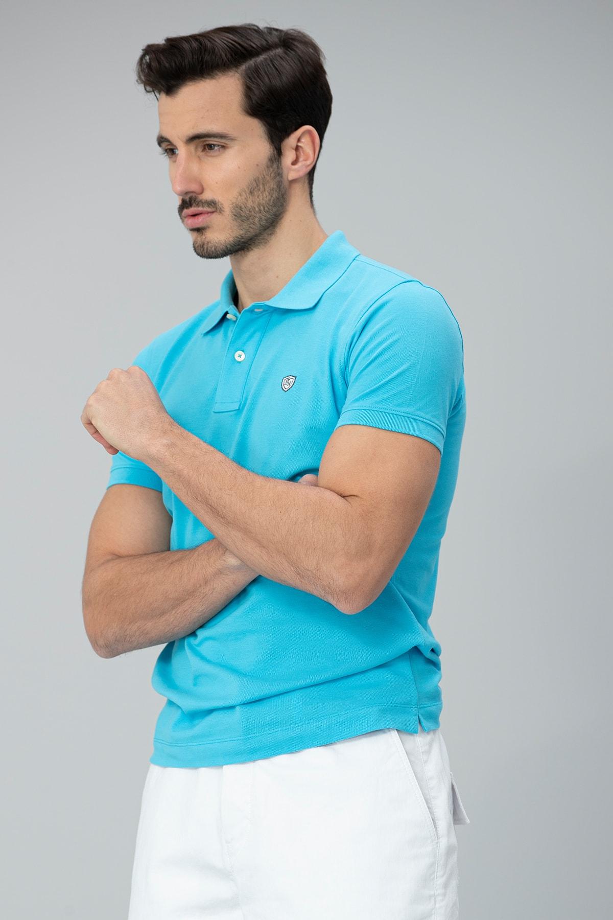 Lufian Laon Spor Polo T- Shirt Turkuaz 1