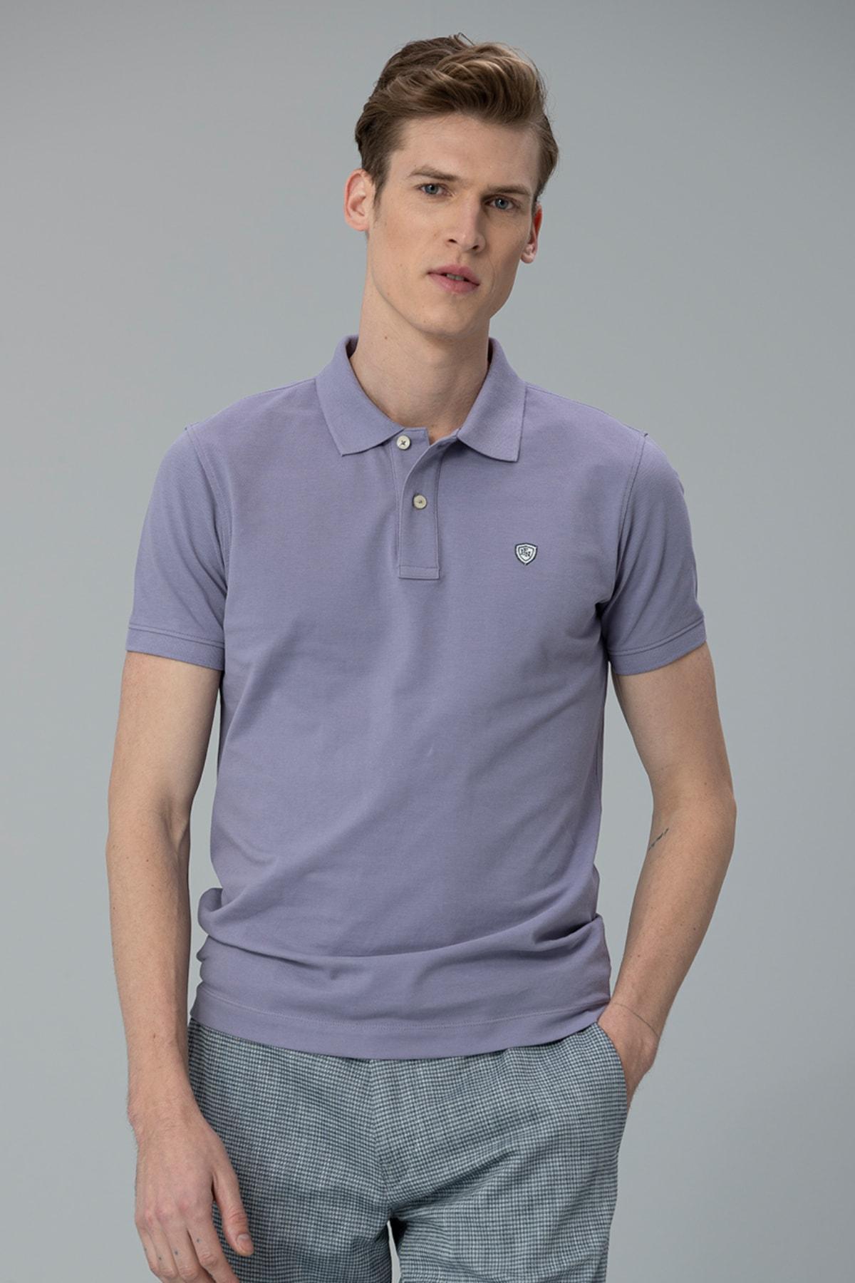 Lufian Laon Spor Polo T- Shirt Lila 0