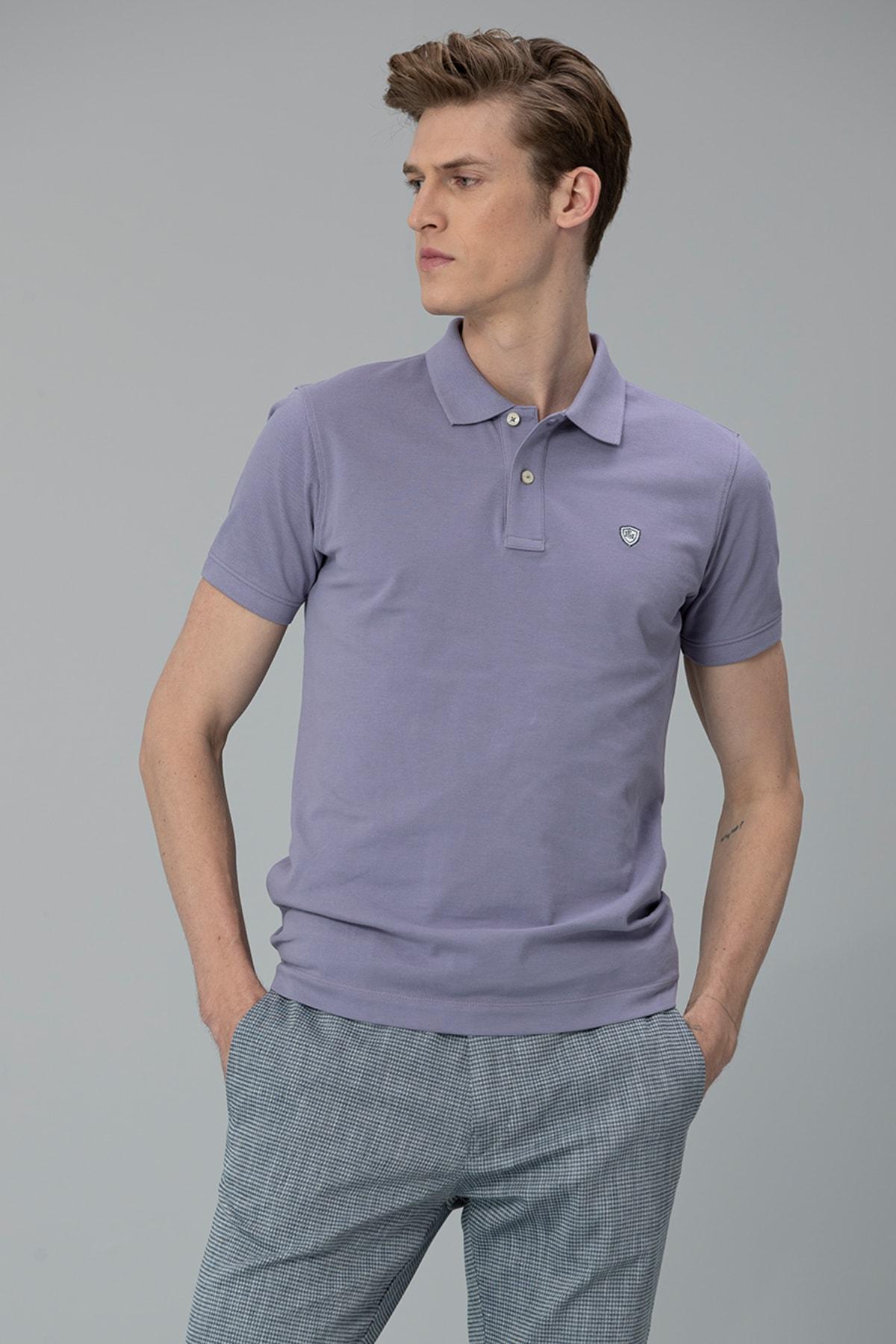 Lufian Laon Spor Polo T- Shirt Lila 1