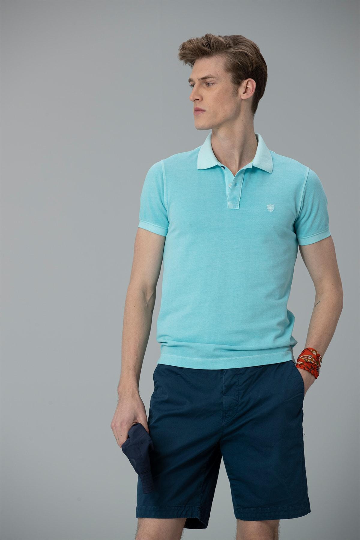 Lufian Vernon Spor Polo T- Shirt Aqua 1