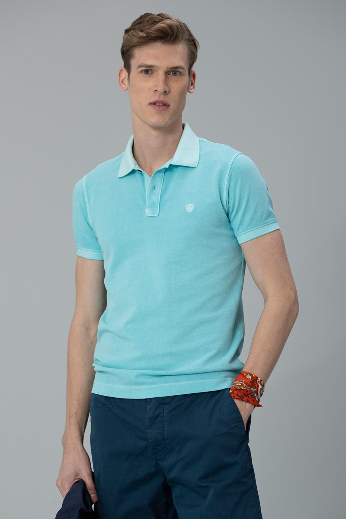 Lufian Vernon Spor Polo T- Shirt Aqua 2