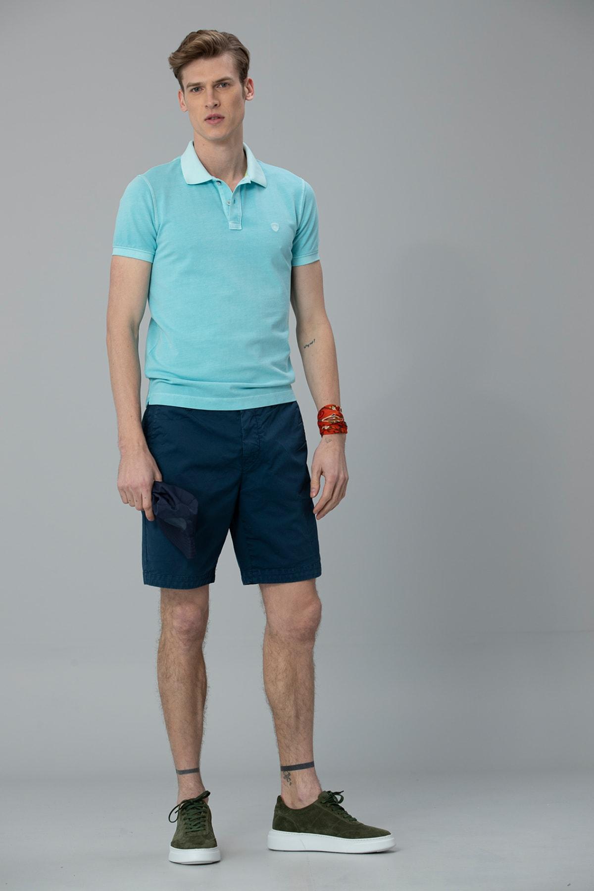 Lufian Vernon Spor Polo T- Shirt Aqua 3