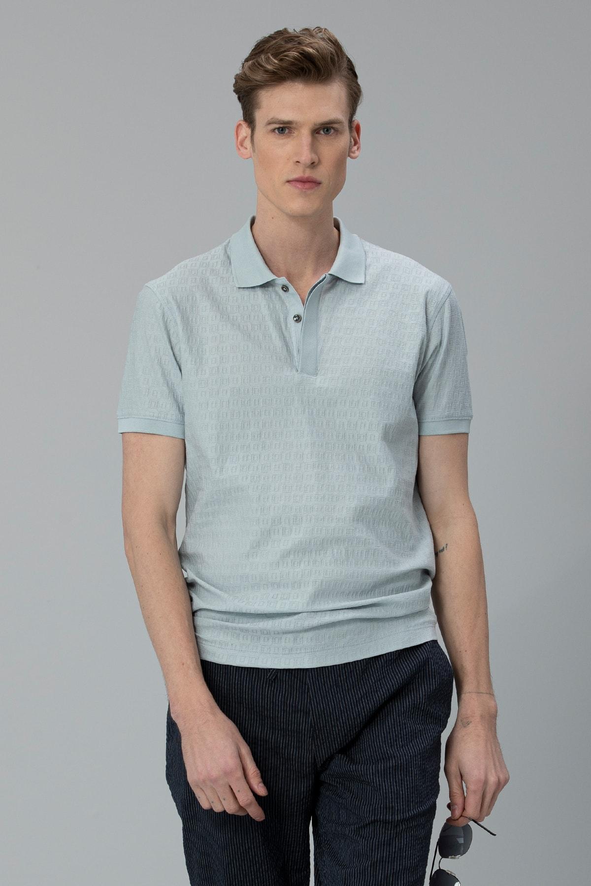 Lufian Clar Spor Polo T- Shirt Açık Nane 3