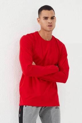 Tommy Life Erkek Kırmızı O Yaka Klasik  Sweatshirt 0
