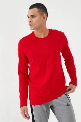 Tommy Life Erkek Kırmızı O Yaka Klasik  Sweatshirt 1