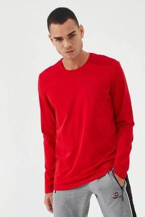 Tommy Life Erkek Kırmızı O Yaka Klasik  Sweatshirt 2