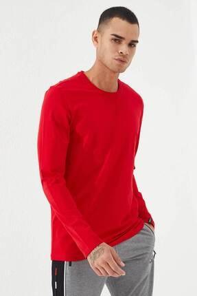 Tommy Life Erkek Kırmızı O Yaka Klasik  Sweatshirt 4