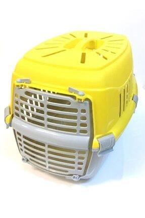 fullreyon Kedi Köpek Taşıma Çantası Evcil Hayvan Taşıma Sepeti Sarı 1