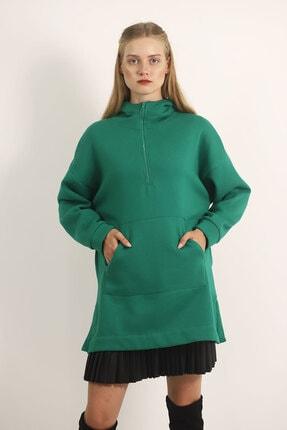 Carlamia Kadın Yeşil Bel Bağcıklı Şortlu Takım 1