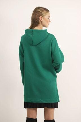 Carlamia Kadın Yeşil Bel Bağcıklı Şortlu Takım 2