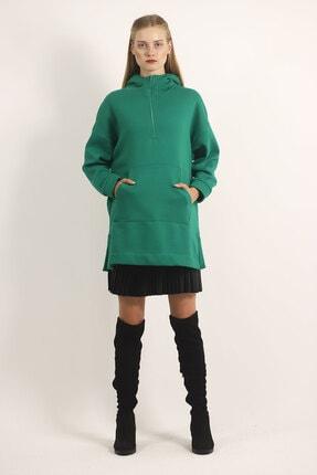 Carlamia Kadın Yeşil Bel Bağcıklı Şortlu Takım 4