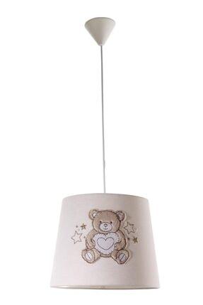 Meltem Smart Bear Nakışlı Bebek Çocuk Odası Tavan Lamba 0