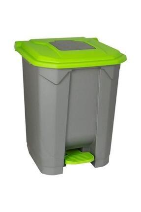 Planet Konteyner Bahçe Çöp Kovası 50 Lt.tekerlekli Yeşil Kapak 0