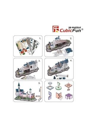 Cubic Fun 3d Puzzle Neuschwanstein Kalesi-almanya 0