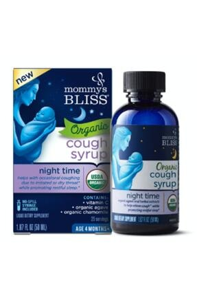 Mommy's Bliss Organic Baby Cough Syrup Mucus Relief Night Time 0