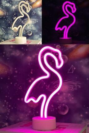 Patladı Gitti Dekoratif Flamingo Neon Led Gece Lambası 0