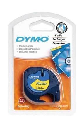 Dymo Şerit Let.plastik 12mmx4m Sarı 721620 59423 0