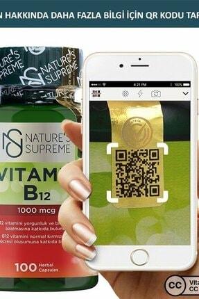 Natures Supreme Vitamin B12 1000 Mcg 100 Kapsül 3