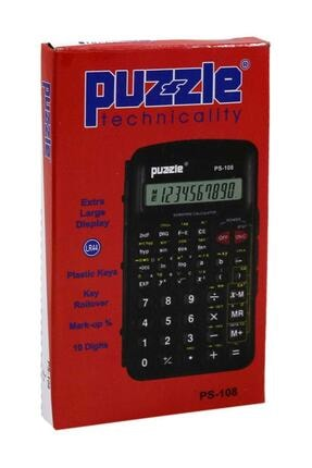 Puzzle Ps-108 Fonksiyonlu Hesap Makinesi 1